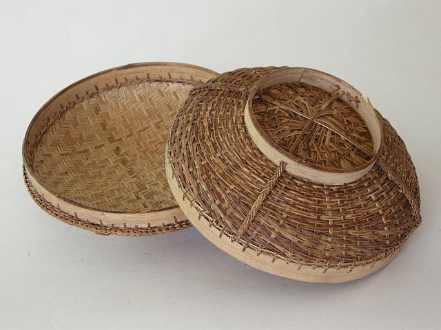 Bhutan Double skinned lidded basket colleciton of Jenny Balfour Paul