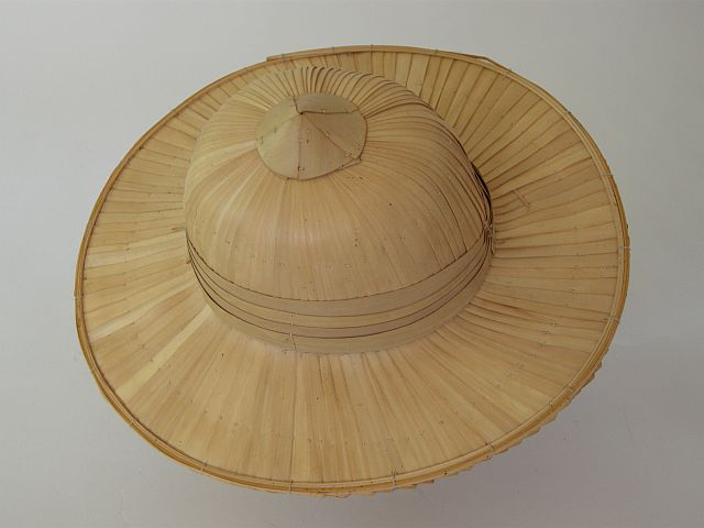 Palm leaf and bamboo hat
