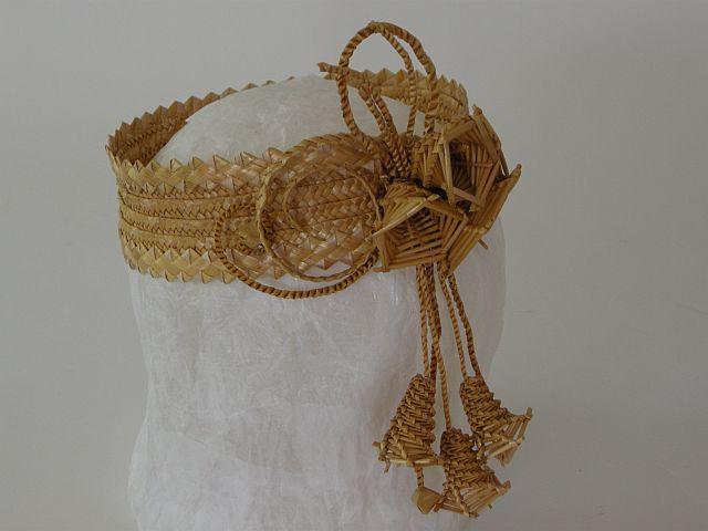 Belarus straw plait headdress