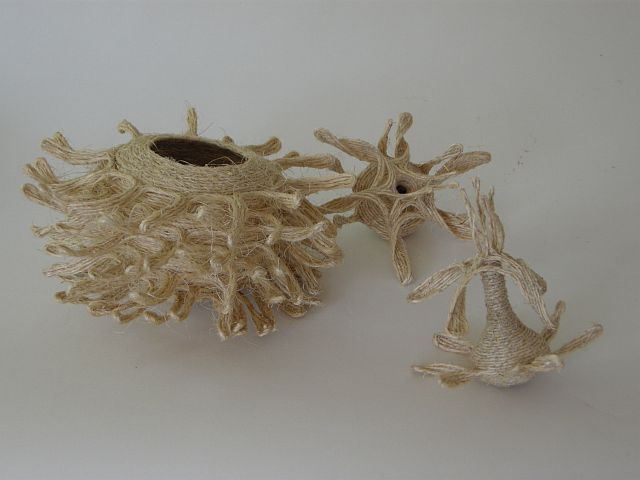 Swept away coiled pieces by Joan West
