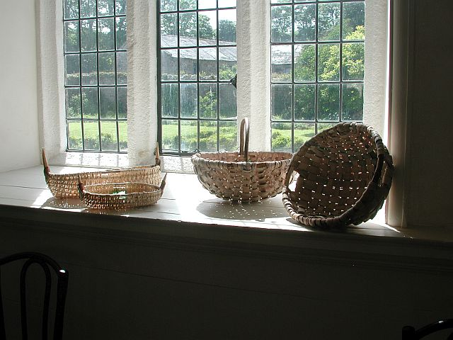 Owen's 'swill' and basket with handle on right, Lluis Grau's baskets on left.