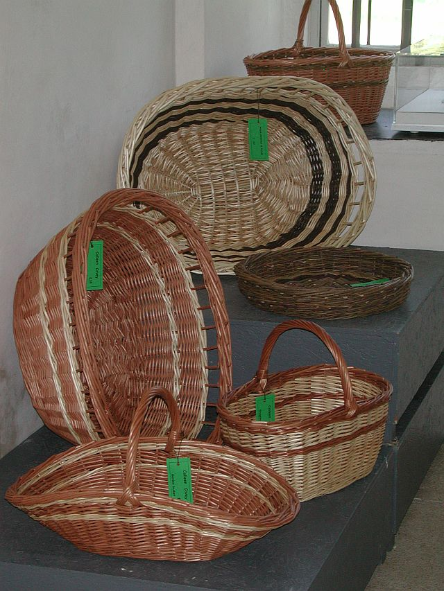 Coleen's baskets on display